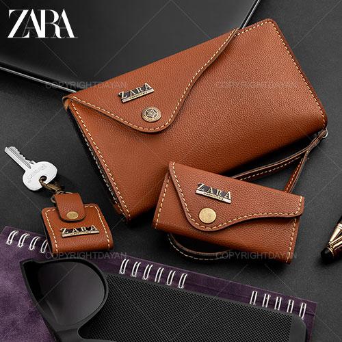 خرید ست چرم – کیف پالتویی ، جاسوئیچی ، جاکلیدی Zara مدل N9291