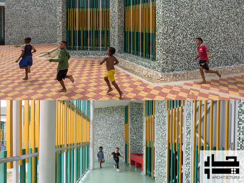 مهد کودک آتلانتیو - فضای نرده ها و حیاط