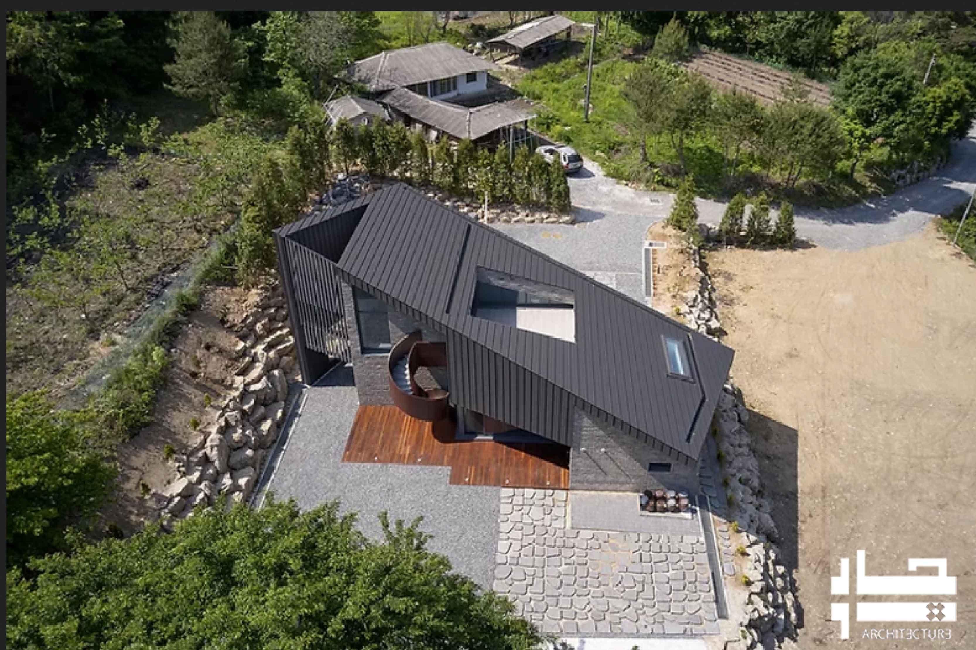 خانه شیب دار: خانه ای با نمای بام