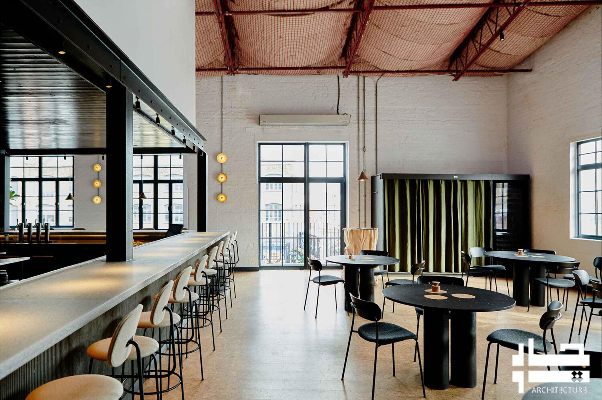 مصالح و نورپردازی فضای داخلی رستوران
